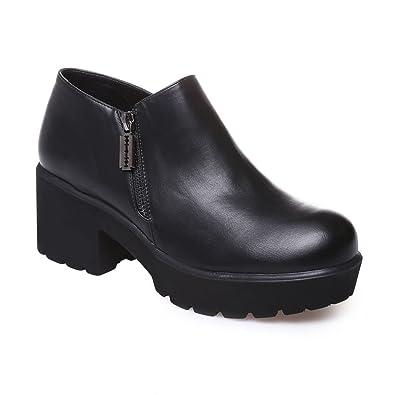 1f9870042cc La Modeuse - Low boots femme en simili cuir  Amazon.fr  Chaussures ...