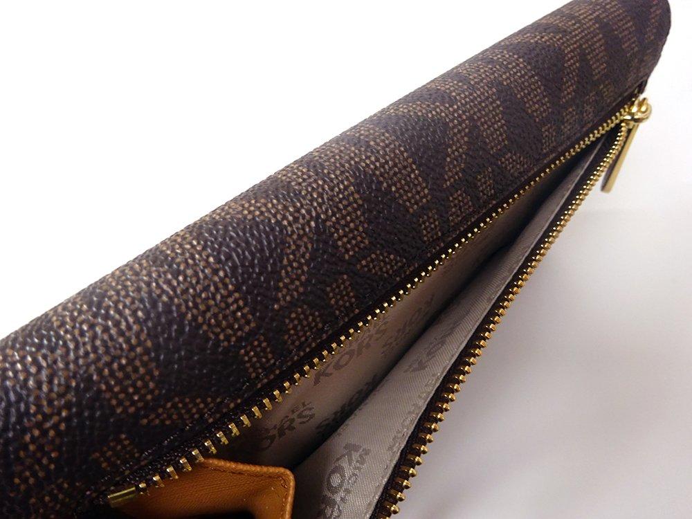 Michael Kors Jet Set Travel Large Trifold Leather Wallet Brown/Acorn by Michael Kors (Image #8)