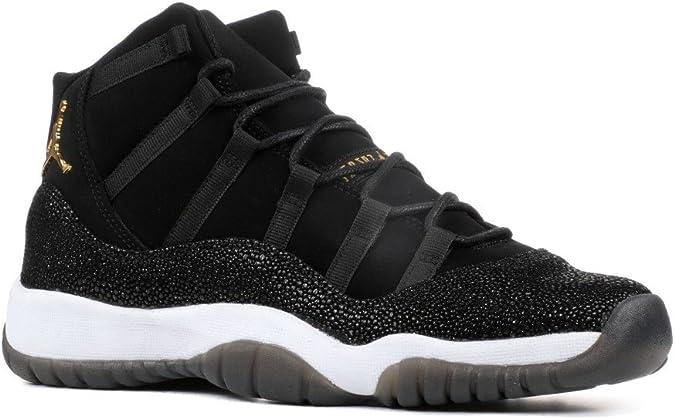 Gallina rango Nuez  Jordan Sneaker - Nike Air Jordania 11 Retro Premium Heiress Stingray para  niñas grandes jóvenes Negro Dorado Metálico 852625-03 Niñas: Amazon.es:  Zapatos y complementos
