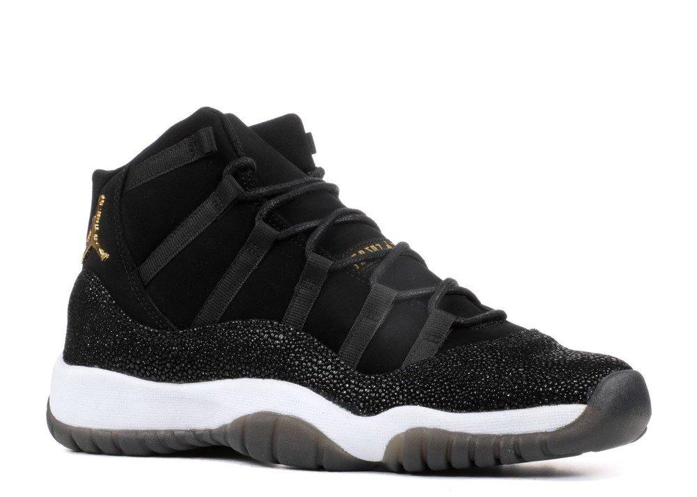 Jordan Kid's Air 11 Retro Prem HC, Black/Metallic Gold-White, Youth Size 5.5 by Jordan