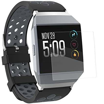 Amazon.com: GerTong Fitbit Ionic Screen Protector Tempered ...