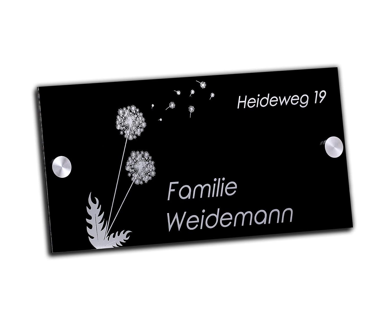Familia placa/Número de Casa con grabado de acrílico de ...