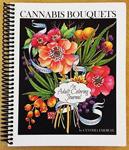 Cannabis Bouquets, an adult coloring journal