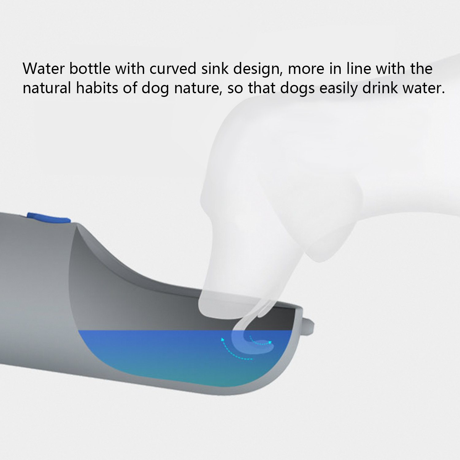 Dog Water Bottle for Walking, Pet Water Dispenser Fashion Antibacterial Portable Dog Cat Travel Water Drink Bottle Bowl Dispenser Feeder Including 2 Filter Elements, Dogs Outdoor Drinking Cup-400ml by XUANRUS (Image #6)