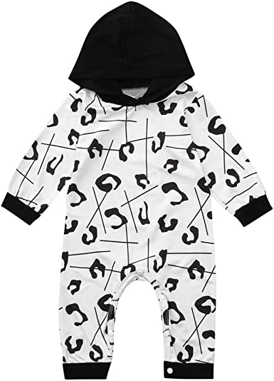 Baby Long Sleeve Cartoon Hooded Romper Jumpsuit Outfits for Newborn Infant Toddler Baby Girls Boys Memela Baby Clothes