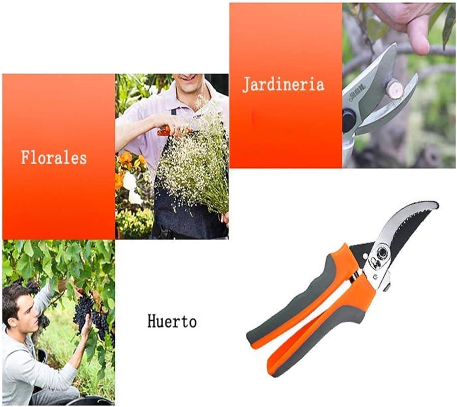 LLSS Pruning Shears, Pruners Garden Professional Labor Saving Hand Fruit Branch Shear Flower Gardening Premium Scissors Orange