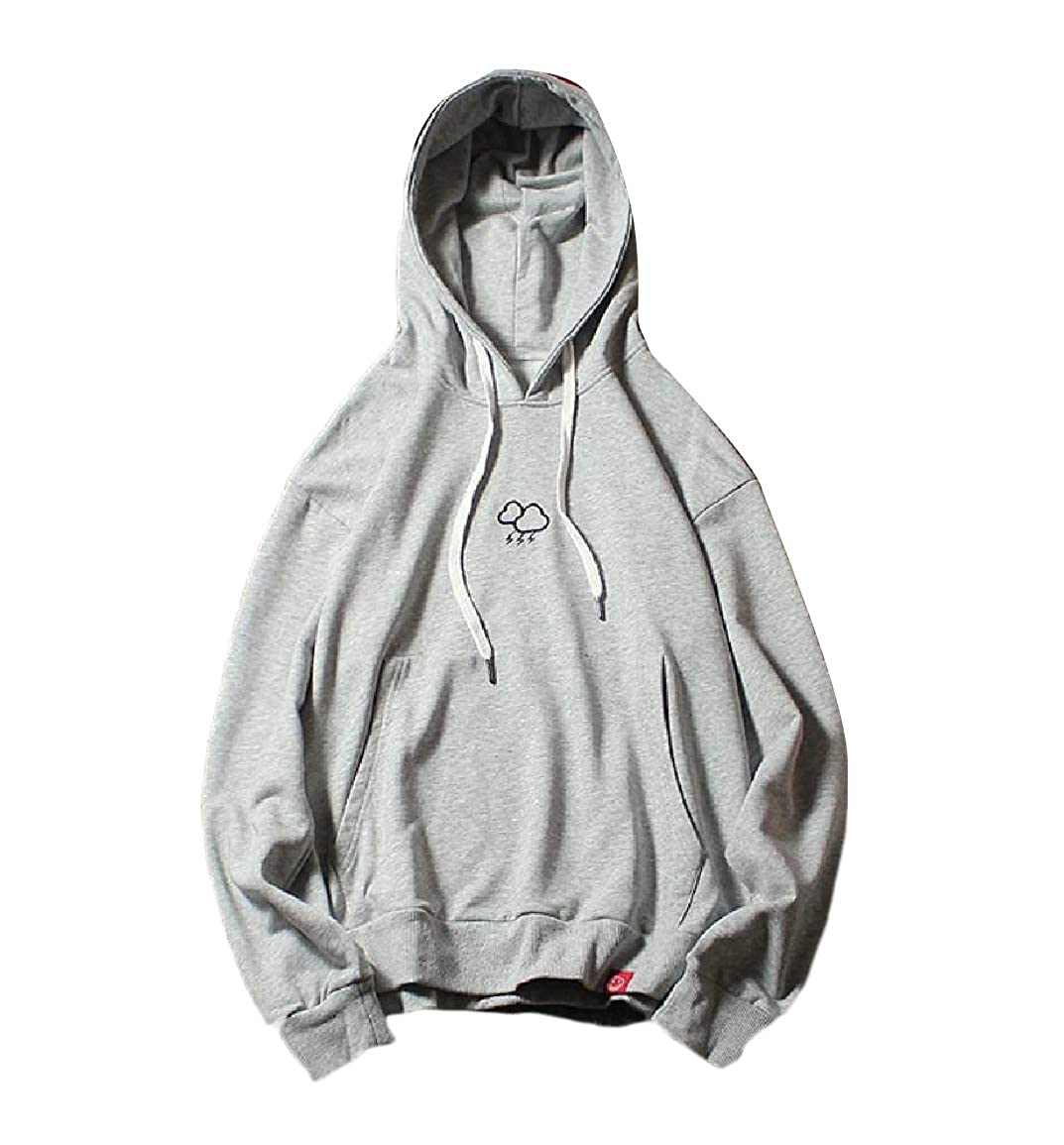 Vska Men Jogger Regular Cotton Athletic Fit with Hood Pullover Top