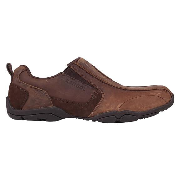 Kangol Farham Herren Schuhe Leder Schnürschuhe Halbschuhe Schwarz 10 (44) NQPqIRtwEG