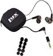 LyxPro ERP-10 in-Ear Monitors with Professional, Universal Fit Earphones for Musicians - Detachable Cables, Carrying Case & 6