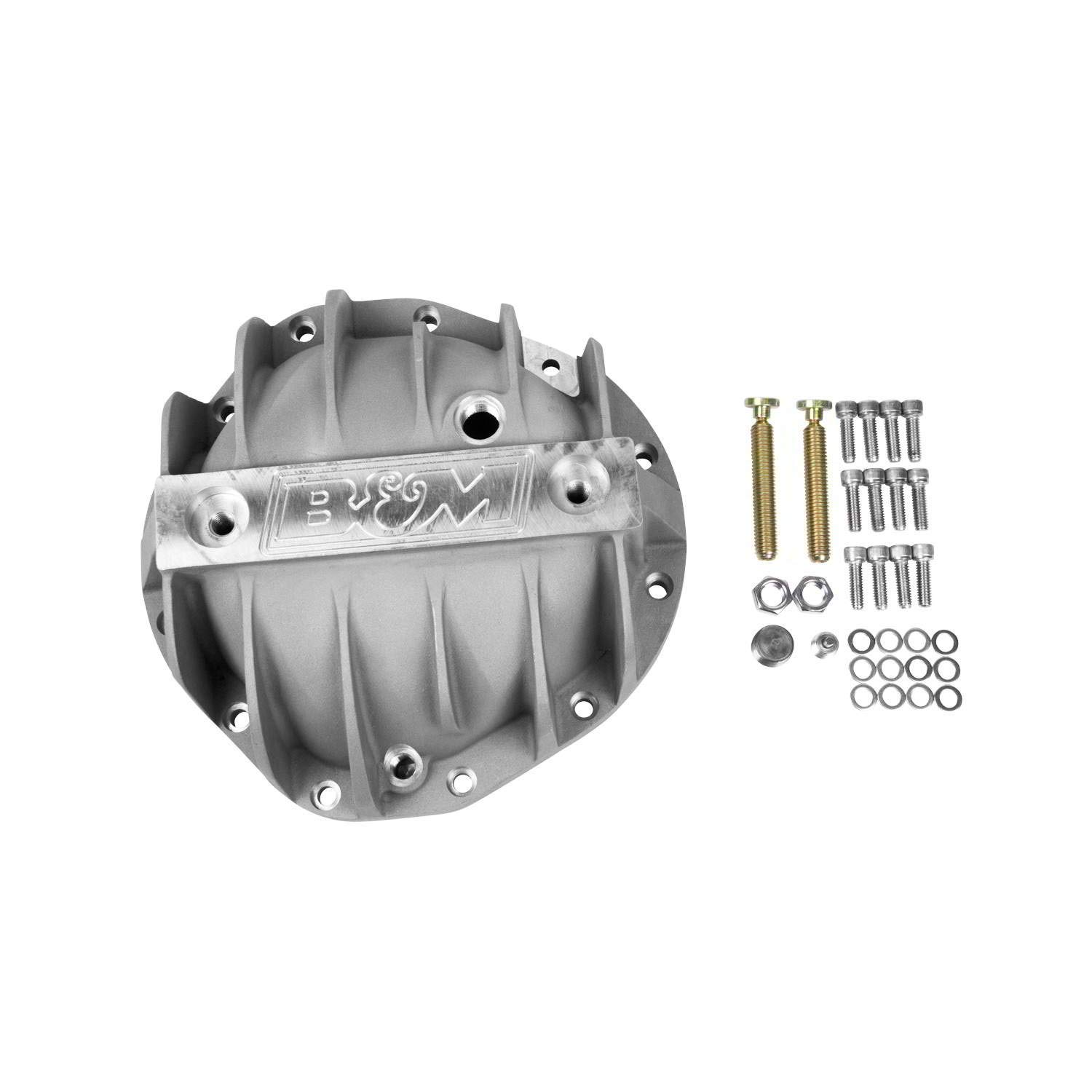 B/&M 70504 Cast Aluminum Rear End Differential Cover with 8.875 Bolt for Chevy Truck