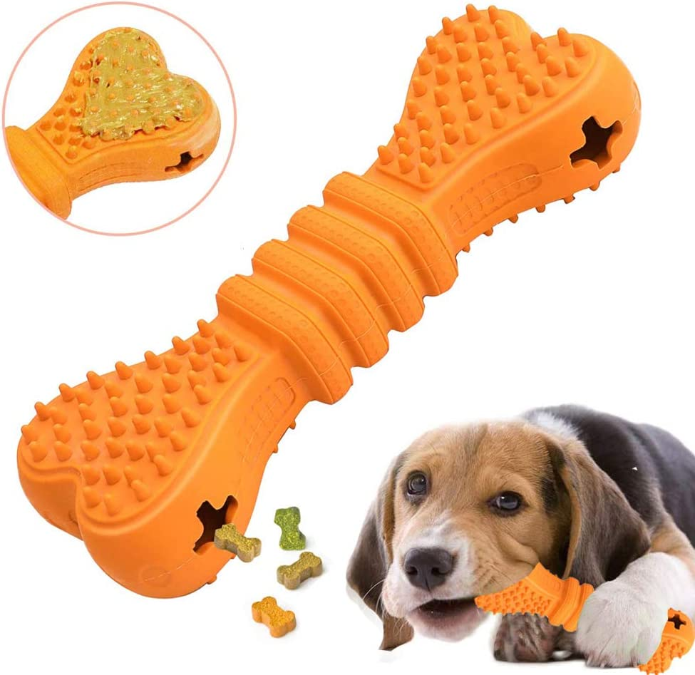 Coppthinktu Dog Chew Toys Puppy Toys for Teething Treat Dispensing Dog Toys Tough Chew Toys for Dogs Interactive Food Dispensing Dog Toys Puppy Teething Toy for Small Medium Large Dogs IQ Training