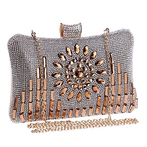 Symbolove Womens Modern Fashion Evening-handbags Cabinet Evening Party  Wedding Clutch Bag For Womens-C1 3cf2839e553ff