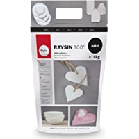 Rayher 3410302 Raysin 100 Polvo para moldear, 1kg, Blanco, sin Olor, Secado al Aire Libre