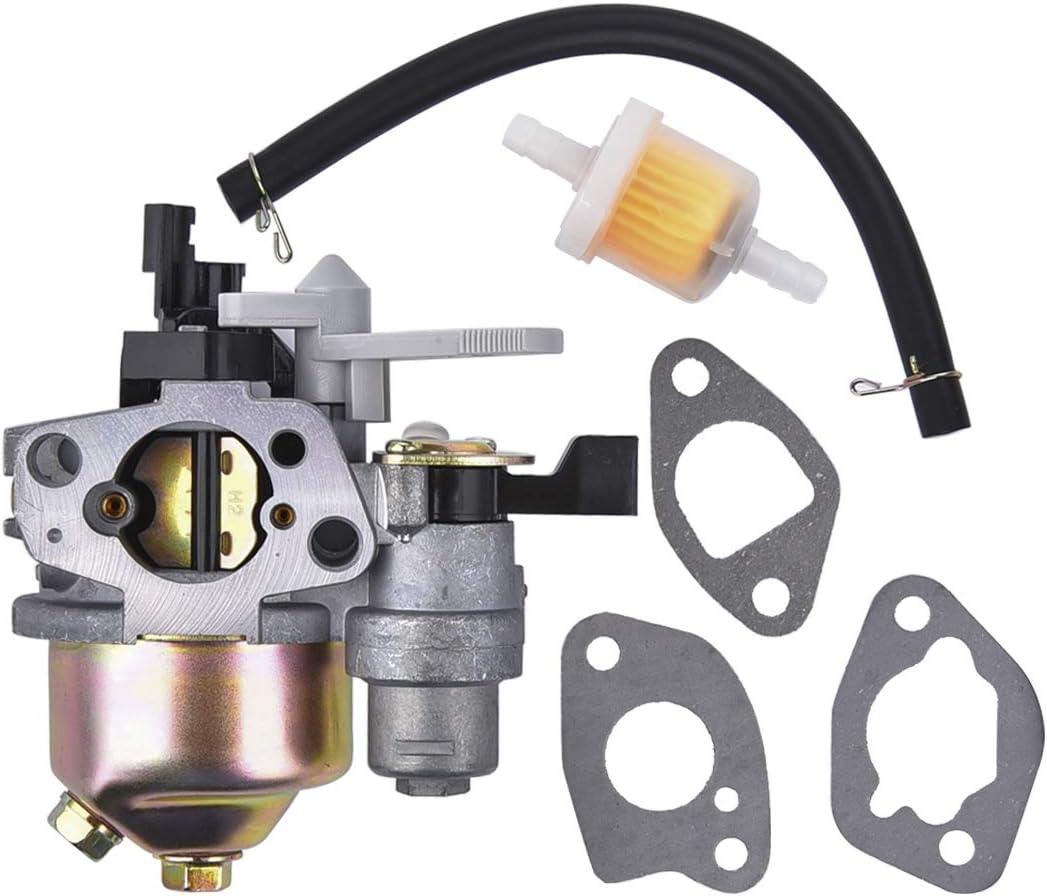 Carburetor with Gasket Set for Coleman Powersports KT196 196cc 5.5HP 6.5HP OHV Engine Go Kart Carb
