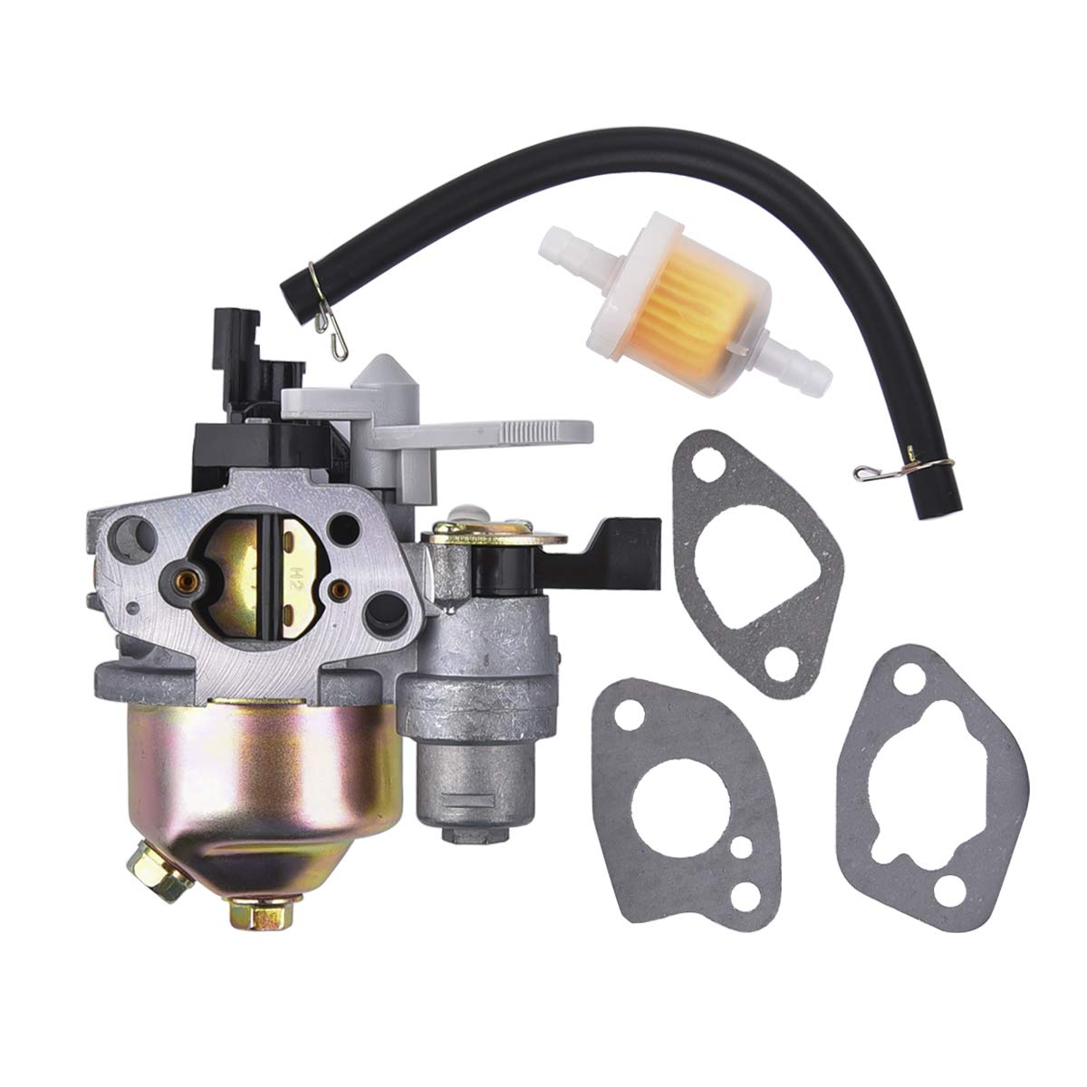 Carburetor with Gasket Set for Coleman Powersports KT196 196cc 5.5HP 6.5HP OHV Engine Go Kart Carb
