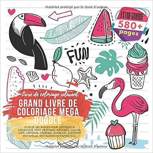 Grand Livre De Coloriage Mega Doodle Livre De Coloriage