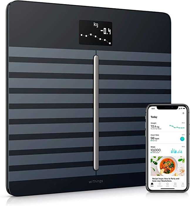 Withings/Nokia Body Cardio – Heart Health & Body Composition Digital Wi-Fi Scale with smartphone app