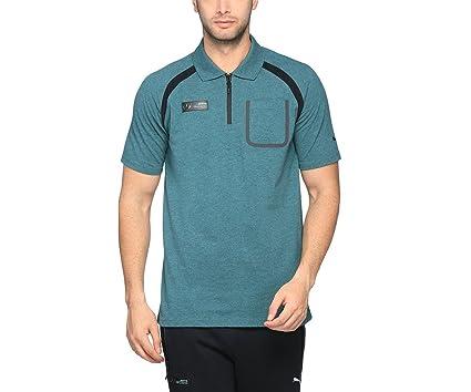 ab979cd02 Amazon.com   PUMA 2017 Mercedes AMG Petronas Polo Football Soccer T-Shirt  Jersey (Deep Teal)   Sports   Outdoors
