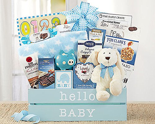 Wine Country Gift Baskets Welcome Home Baby Boy - Wine Smoked Gouda