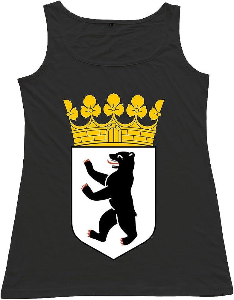 Onlyprint Women's BERLIN BEAR King Tank Top Size US Red