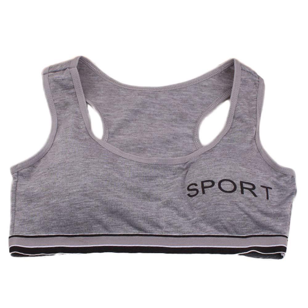 Alelife 10-15 Years Puberty Girls Underwear Bra Vest Kid Underclothes Sport Undies Clothes