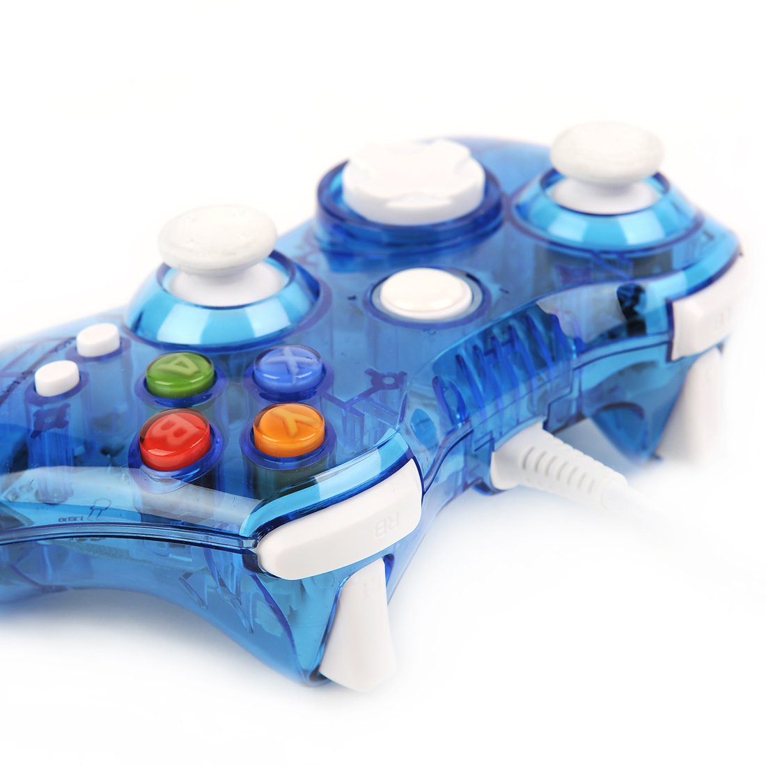 Amazon.com: USB Wired Afterglow Blue Game Pad Controller Gamepad ...