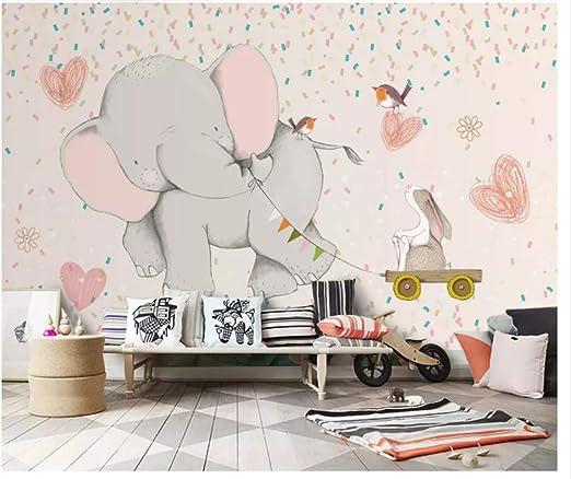 Amazon Meaosy 手描き クラシック 子供 象 壁紙 ホワイト うさぎ イラスト 男の子 女の子 部屋 ソファ テレビ背景 3d壁紙 Lsvgcaa 壁紙