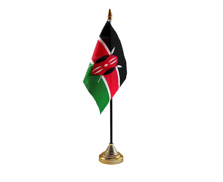 Kenya Hand Table or Waving Flag Country Kenyan - No Base RetailZone