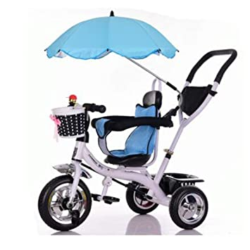 QILEGN Carrito de bebé Carrito de bebé con sombrillas Triciclo Carro de bebé Bicicleta Juguete Infantil