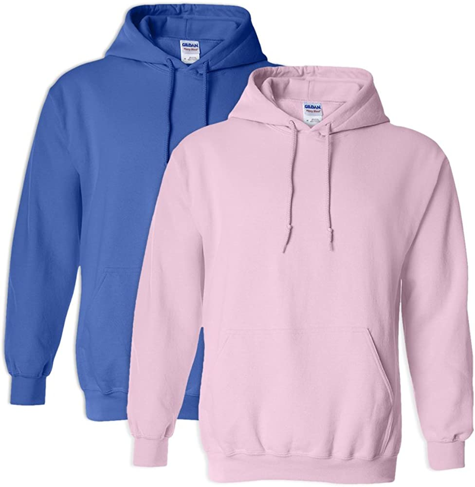 Gildan G18500 Heavy Blend Adult Hooded Sweatshirt M 1 Royal 1 Light Pink