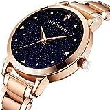 STIME Ladies Luxury Starry Sky Blue Analog Quartz Watch Fashion Dress Wrist Watches for Women