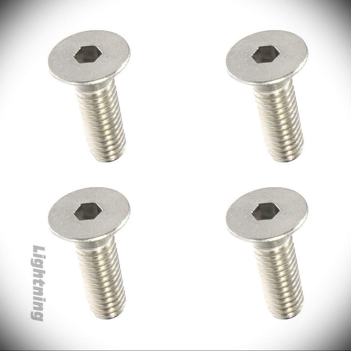 Metric Flat Head Socket Cap Screw Metric Hardware Fastener Kit A4 Stainless Steel M3 x 0.5 x 40mm Set of 100