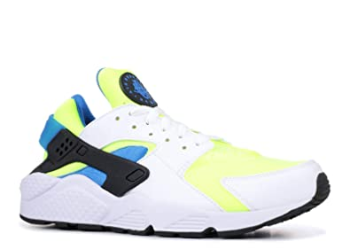 timeless design 95789 bbb09 NIKE AIR Huarache - Men s (8, White Volt Black Photo Blue