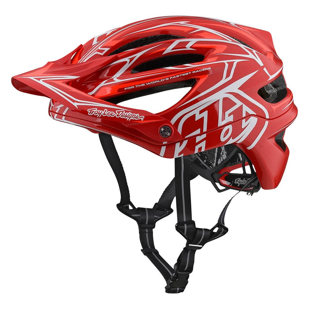 Troy Lee Designs A2 Pinstripe 2 Mountain Bike Adult Helmet 2018 with MIPS Protection and X-Static Liner meets/exceeds CPSC CE-EN AS/NZS Medium/Large Red