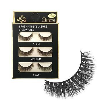 False Eyelashes Fashion Women 3 Pairs Waterproof Handmade 3d Glam Natural Thick Long False Eyelashes Beauty Tools 2017 Hot Sale