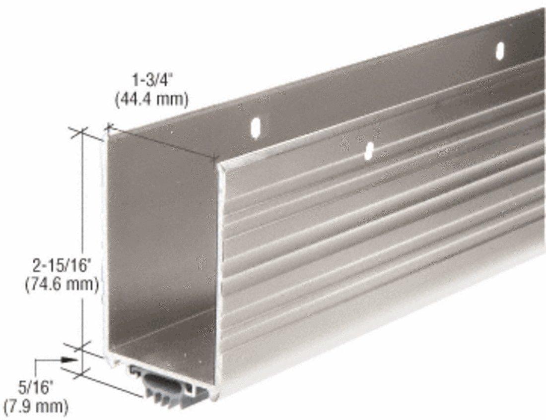 CRL Aluminum Finish Wrap Around Door Shoe and Kick Plate with Vinyl Weatherseal for 36'' Door C.R. Laurence DB054AV36