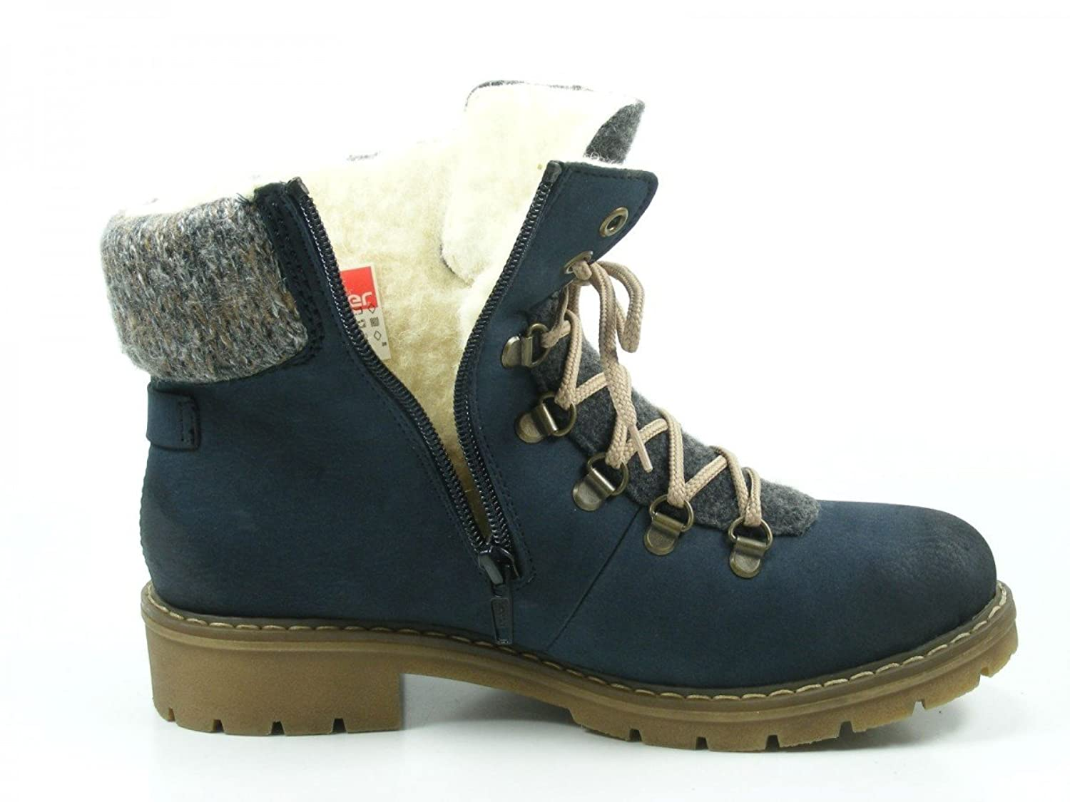 Rieker Y9131 - 14 Pazifik (Navy) Womens Boots: Amazon.co.uk: Shoes & Bags