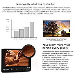 Aputure VS-1 FineHD 7 Inch Ultra HD 1920x1200 LTPS Camera Field Monitor Supports HDMI YPbPr AV Interface 450 Nit Brightness 1200:1 Contrast Ratio