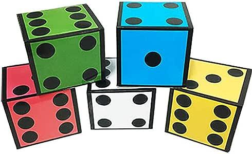 Enjoyer Nuevos Dados de Cartas (5 Dados) Trucos de Magia Tarjetas Gigantes a Dados Gigantes Etapa de Mago Accesorios de Magia Ilusión Truco Mentalismo: Amazon.es: Juguetes y juegos