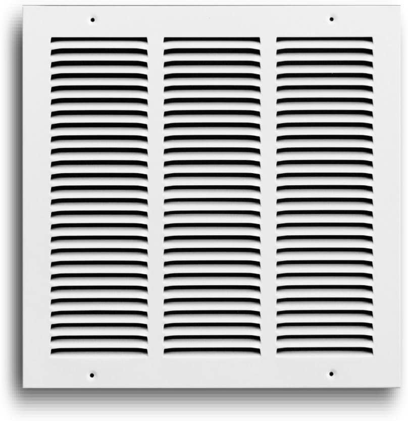 Truaire 170 12X12 Return Air Grille 12-Inch x 12-Inch Sidewall or Ceiling Return Air Grille, White