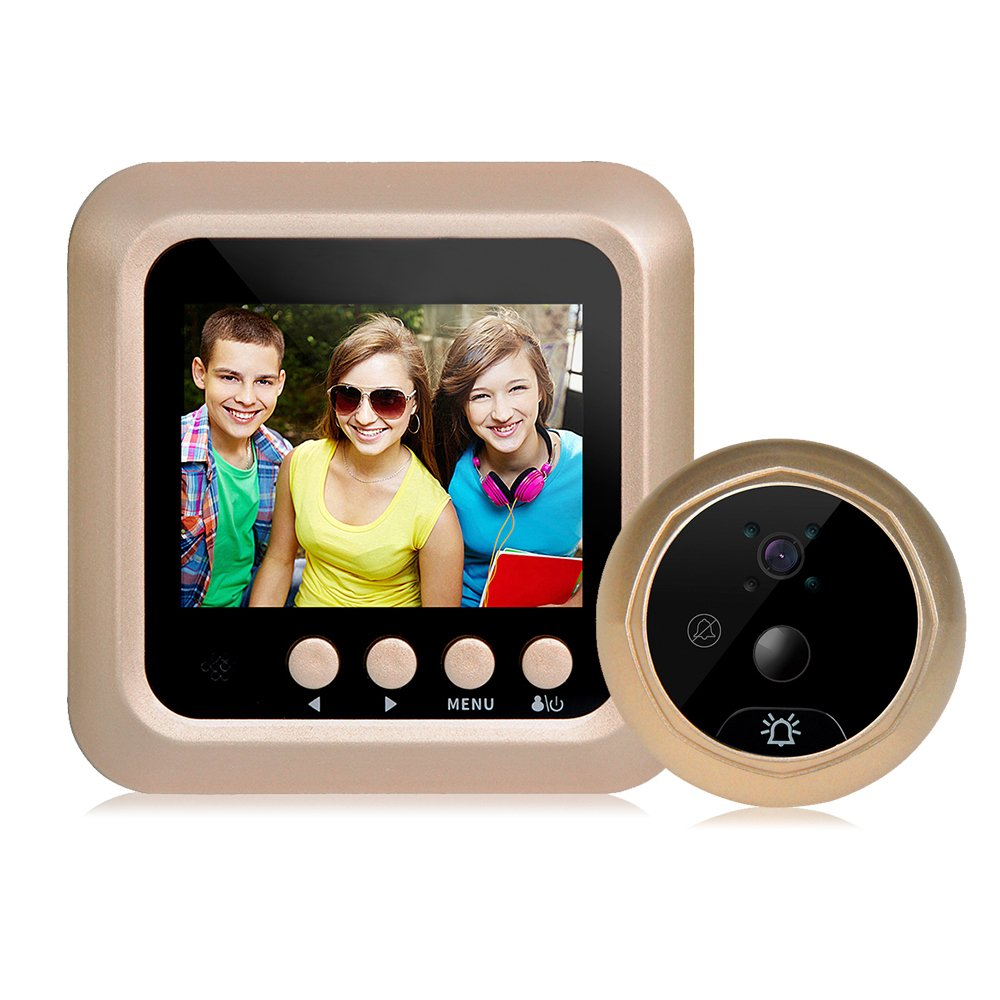 GEEDIAR Tü rspion ü berwachungskamera 3.5 Zoll LCD digital-Video Monitor 120 Weitwinkel Kamera Batteriebetrieben zhangming