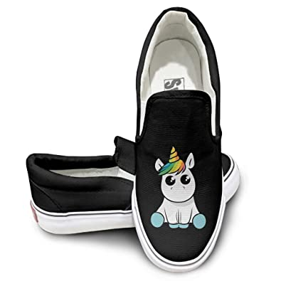 Funny Sitting Unicorn Mens Wowens Casual Loafers Classic Driving Boat Shoes