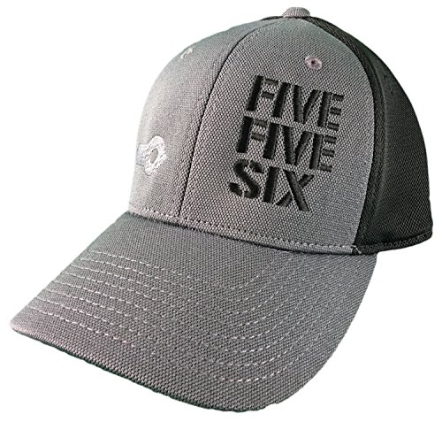 Five Five Six Ar-15 Hat (S/M) Cap Black/Grey Distressed 5.56 2.23 Fitted - Front 15 Ar