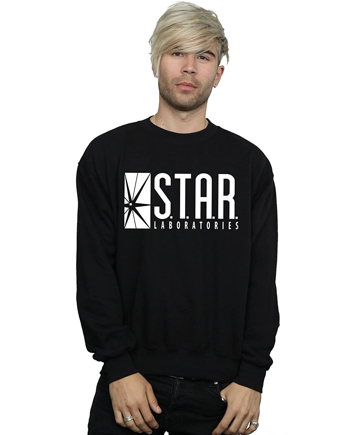 DC Comics Homme The Flash STAR Labs Sweat-Shirt Absolute Cult