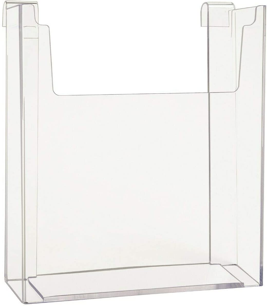 Brochure /& Magazine Holder Gridwall 8.5 x 11 Clear Acrylic Literature 5 Pack