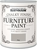 Rustoleum ROLCFPFL750 Chalky Finish Furniture Paint, Flint Matt, 750 ml