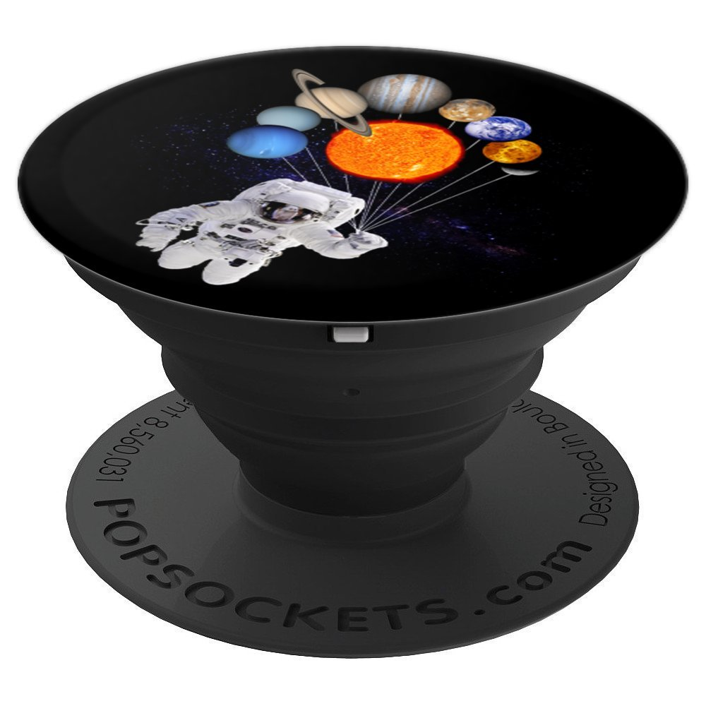 Solar System Sun Planets Astronaut Milky Way PopSockets - PopSockets Grip and Stand for Phones and Tablets