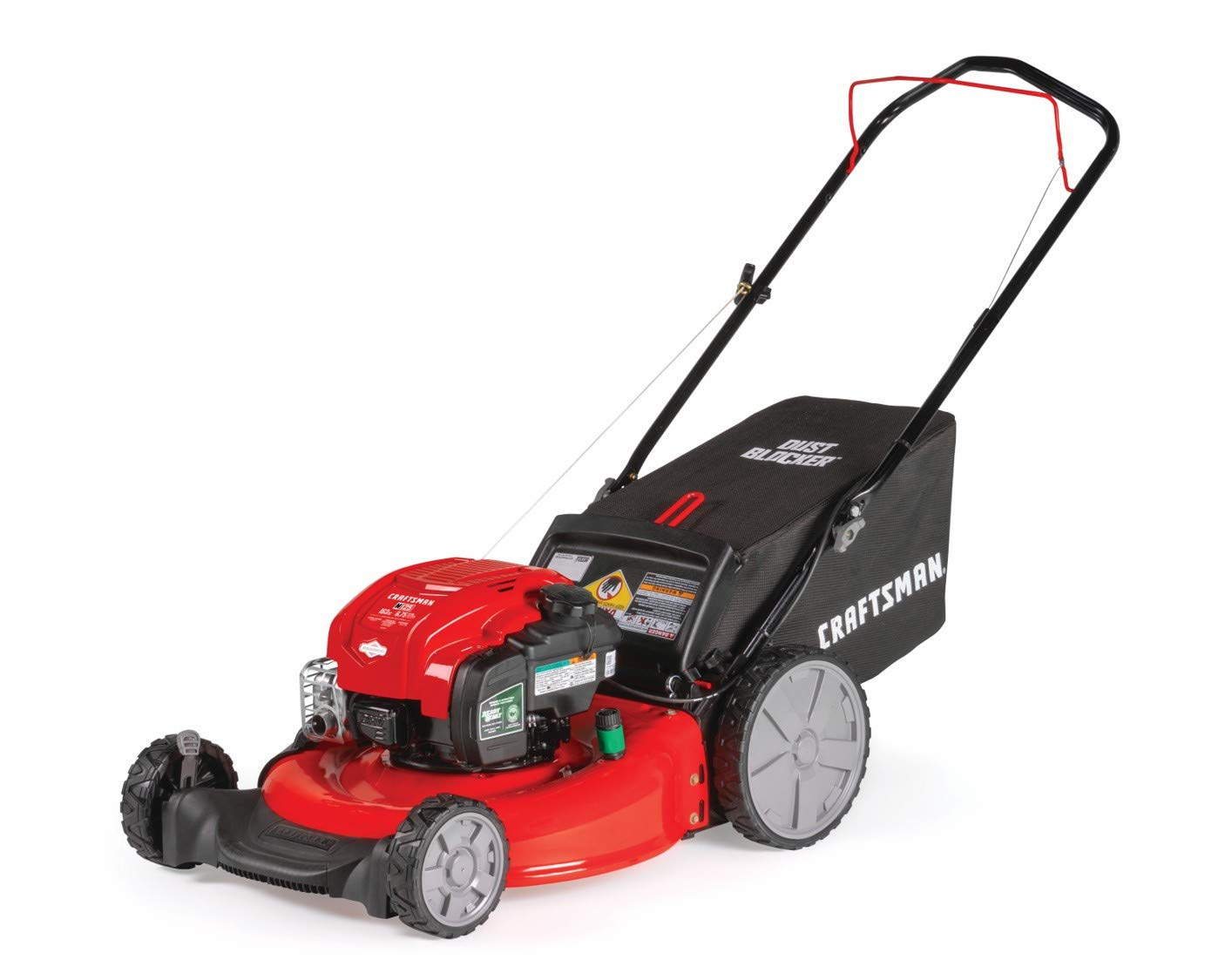 Craftsman M125 163cc Briggs Stratton 675 exi 21-Inch 3-in-1 Gas Powered Push Lawn Mower with Bagger