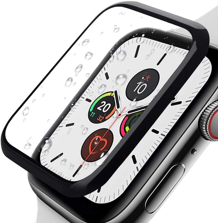 IRSHE Compatible with Apple Watch Series 6/5/4/SE 40MM Screen Protector, iwatch Tempered Glass 3D Curved Edge Anti-Scratch Full Coverage Protective Film for Apple Watch Series 6/5/4/SE 40MM-[2-Pack]