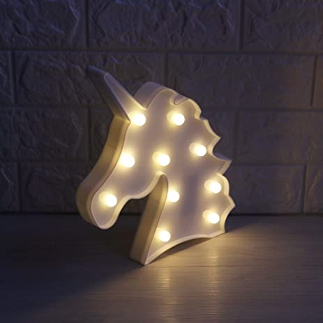 Amazon.com: Unicorn Marquee Battery Light with 10 Warm White LEDs ...